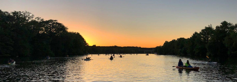 nightime kayaking